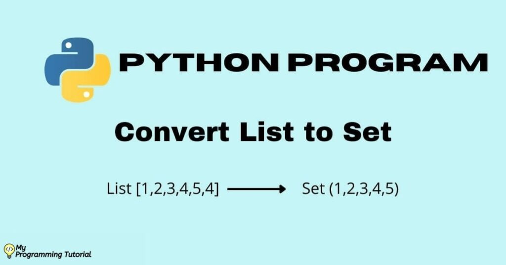 convert list to set python