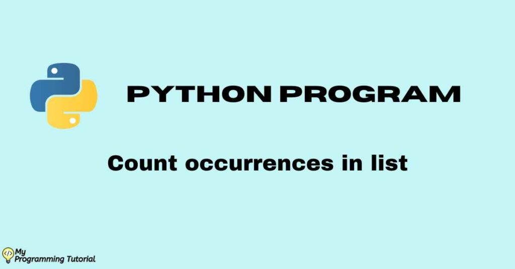 python count occurrences in list