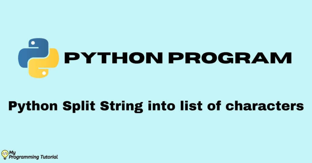 Python split string into list of characters