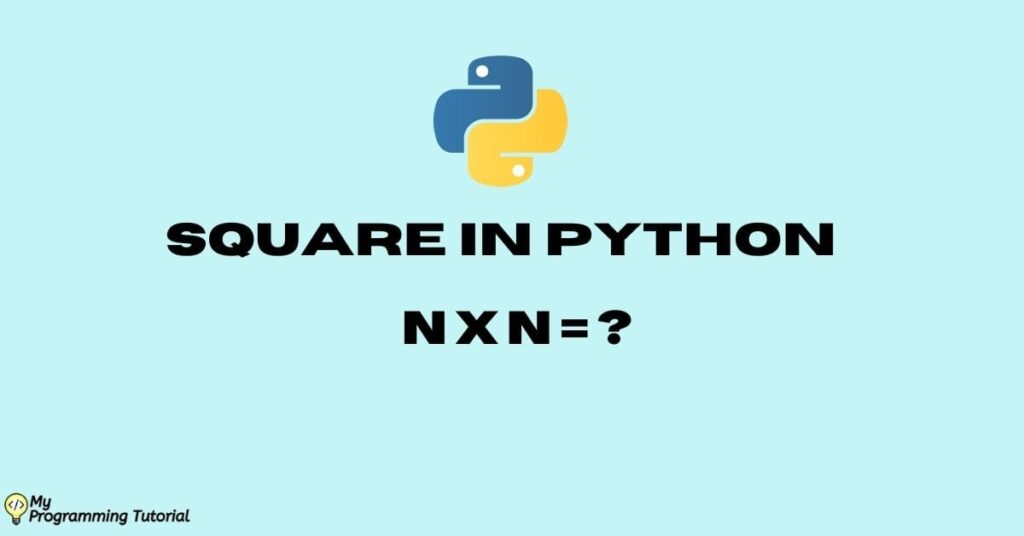 square in python