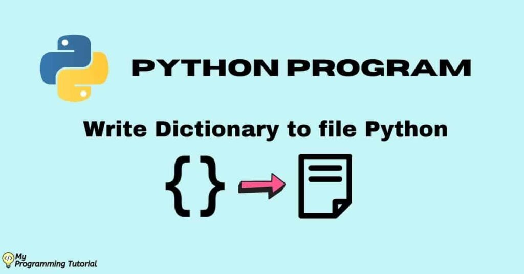 How to write dictionary to file Python